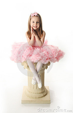 Free Pretty Preschool Ballerina Royalty Free Stock Image - 18803516