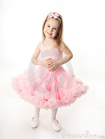 Pretty preschool ballerina