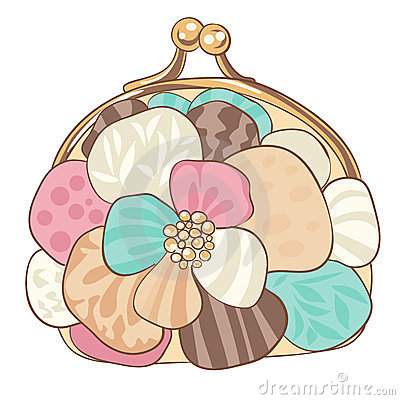 Pretty purse with pastel colors