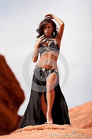 Pretty sexy bellydancer