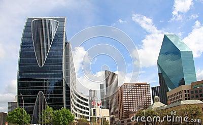 Pretty skyline of downtown Dallas