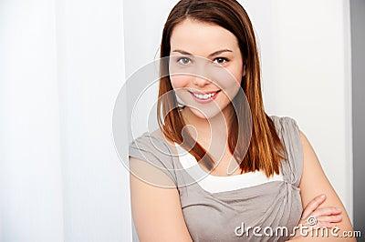 Pretty smiley woman