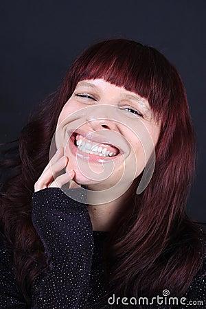 Pretty smiling redhead