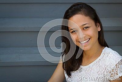 Pretty Smiling Teenage Girl