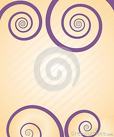 Pretty spiral card