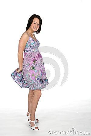 Pretty teen in dress