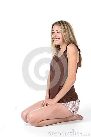 teen kneeling
