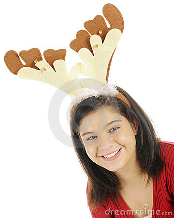 Pretty Teen Reindeer