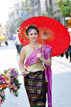 Pretty thai girl Editorial Photo