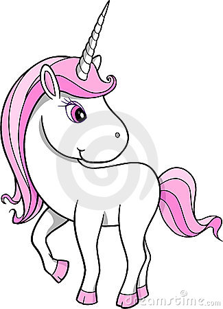 Pretty Unicorn Vector