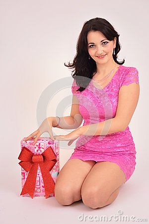Pretty valentines woman stock photo image 48155378 - Outs longere ...