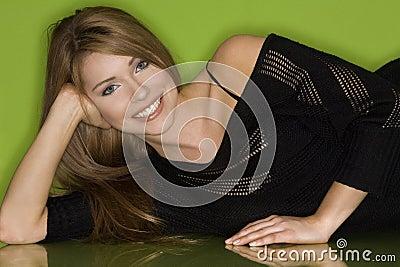 Pretty woman in black
