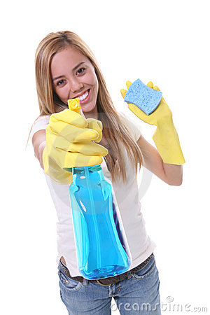 Free Pretty Woman Cleaning Royalty Free Stock Photography - 2904657