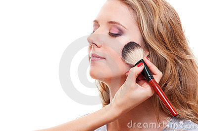 Pretty woman having make up