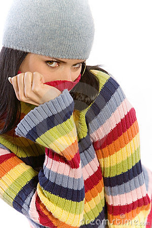Free Pretty Woman In Sweater Stock Photography - 3944922