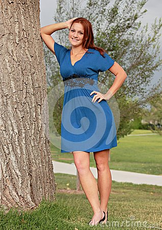 Pretty Woman in Park