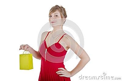 Pretty woman shopping.