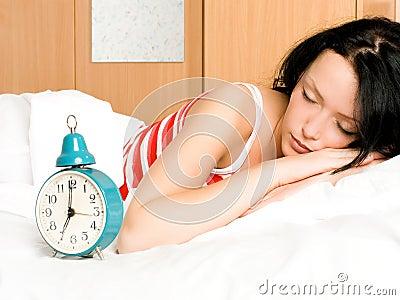 Pretty woman sleeping i