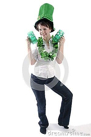 Pretty woman on St. Patrick s day