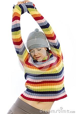 Pretty woman in sweater