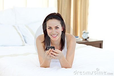 Pretty woman talking on phone