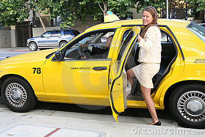 Pretty Woman in Taxi