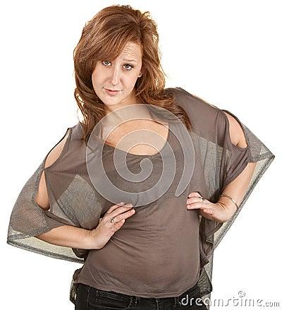Free Pretty Woman With Attitude Royalty Free Stock Photo - 26814265