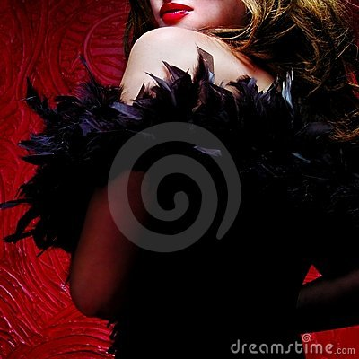 Free Pretty Woman With Ostrich Feathers Royalty Free Stock Image - 8738946
