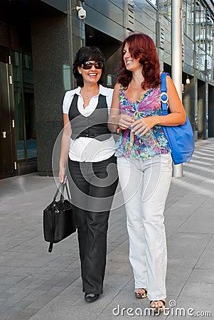 Pretty women walking