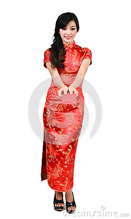 Free Pretty Women With Cheongsam Stock Photography - 28597082