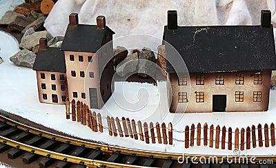 Pretty wooden winter village