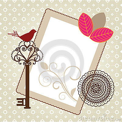 Pretty writing paper frame