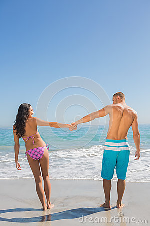 Pretty young couple having holidays together