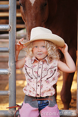 Free Pretty Young Cowgirl. Royalty Free Stock Image - 5775306