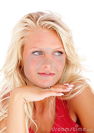 Pretty young female isolated young woman
