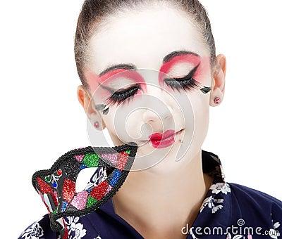 Pretty young Geisha girl