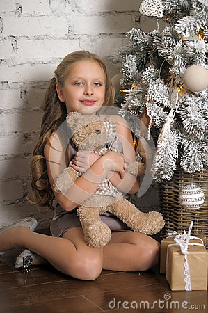 Free Pretty Young Girl Dreaming Of Christmas Stock Photos - 36208933