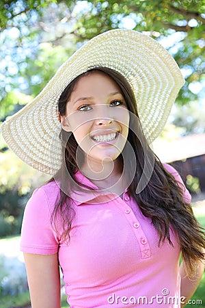 Pretty Young Hispanic Woman