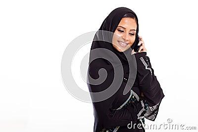 Muslim woman mobile