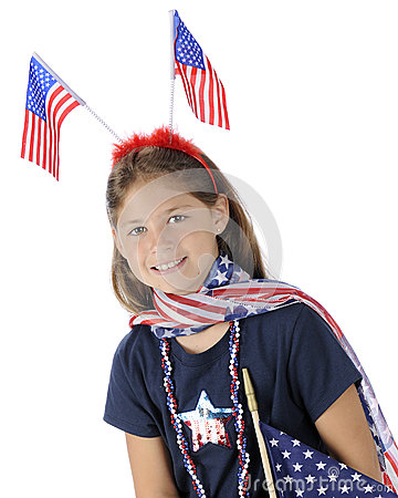 Pretty Young US Patriot