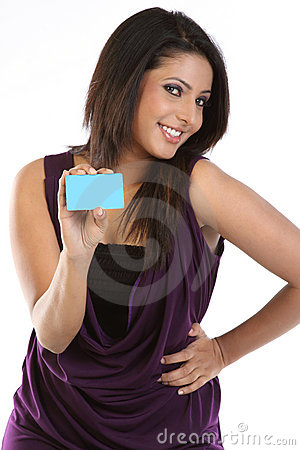 Pretty young woman with credit card