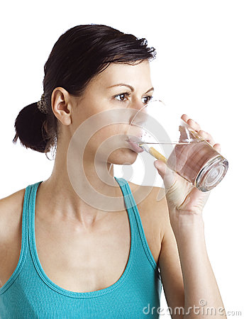 Woman drinking water