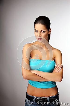 Pretty young woman posing.