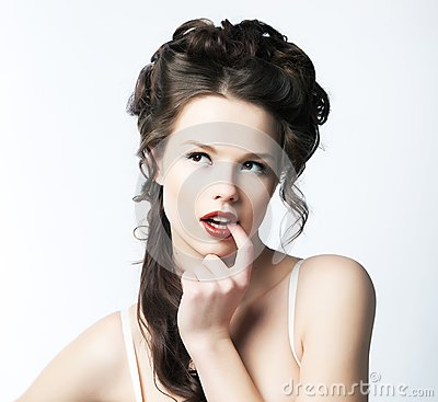 Pure Sexy. Portrait of Seductive Inviting Woman. Refinement & Sophistication