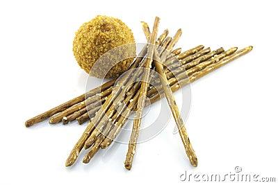 Pretzel Sticks and Scotch Egg