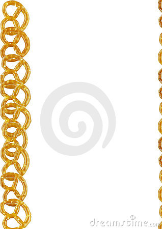 Pretzels frame on a white background