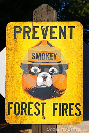 Prevent Forest Fires Sign Editorial Stock Photo