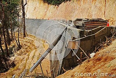 Prevent landslide of the road in forest.