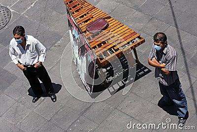 Preventing swine flu at Mexico Editorial Photo