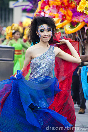 Preview of Chingay Parade 2011 Editorial Stock Photo